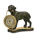 Black Labrador Table Clock