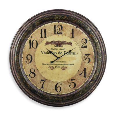 Violettes de Parme Wall Clock