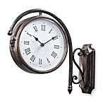 Antique Double-Sided 13-Inch Wall Clock