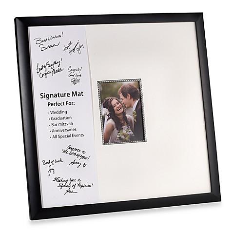 Photoguard Milan Black 20 Inch X 20 Inch Signature Frame