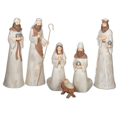 6-Piece Rustic Wash Nativity Scene