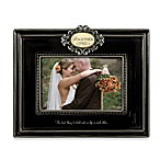 Together Black 4  x 6  Wedding Ceramic Frame