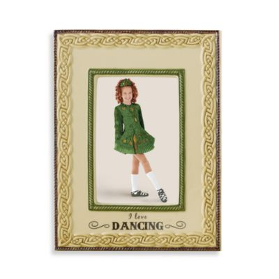 "Celtic ""I Love Dancing"" 4-Inch x 6-Inch Ceramic Frame"