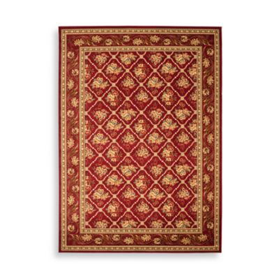 Safavieh Lyndhurst Collection Courtland 4-Foot x 6-Foot Rectangle Rug in Red