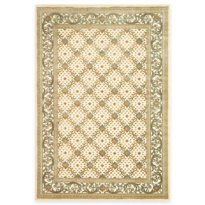 Safavieh Paradise Collection English Trellis 3-Foot 3-Inch x 4-Foot 7-Inch Rectangle Rug in Creme
