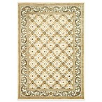 Safavieh Paradise Collection English Trellis 3-Foot 3-Inch x 4-Foot 9-Inch Rectangle Rug in Creme