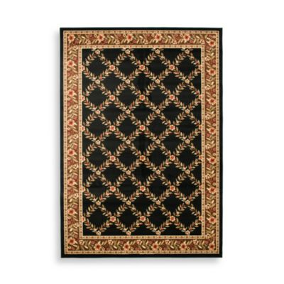 "Safavieh Lyndhurst Collection Black and Brown Feodore 2' 3"" x 16' Runner"