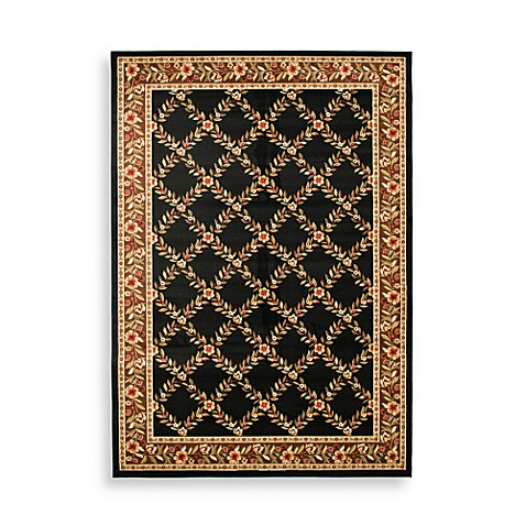 Safavieh Lyndhurst Collection Black and Brown Feodore Rugs