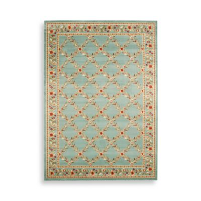 4 Blue Rectangle Rug