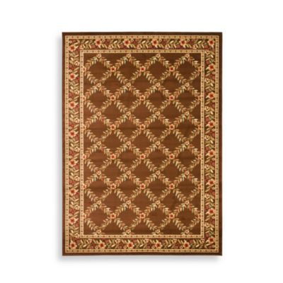"Safavieh Lyndhurst Collection Brown Feodore 6' 7"" Square Rug"