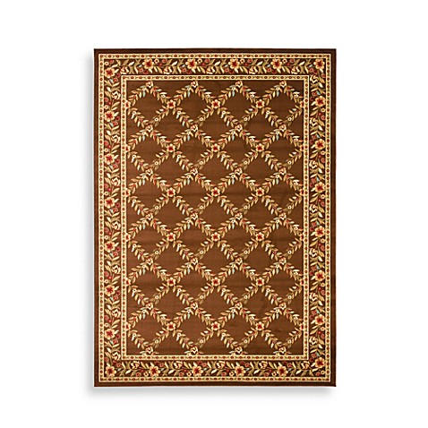 Safavieh Lyndhurst Collection 2-Foot 3-Inch x 8-Foot Runner Feodore in Brown