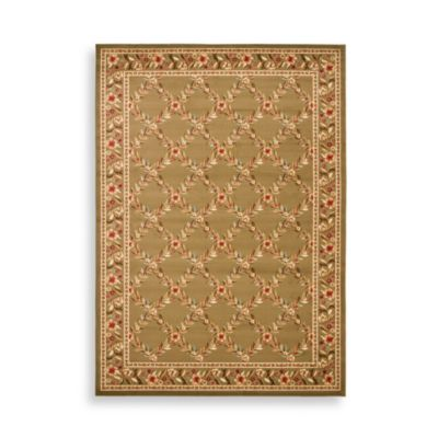 "Safavieh Lyndhurst Collection Green Feodore 6' 7"" x 6' 7"" Square Rug"