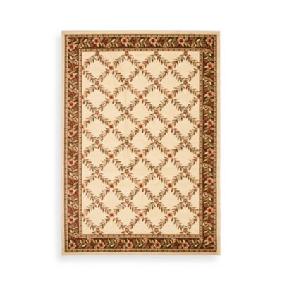 "Safavieh Lyndhurst Collection Ivory and Brown Feodore 6' 7"" Square Rug"