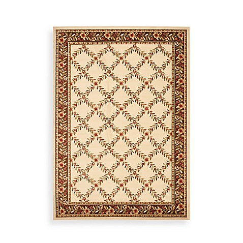 Safavieh Lyndhurst Collection Feodore 2-Foot 3-Inch x 8-Foot Runner in Ivory and Brown