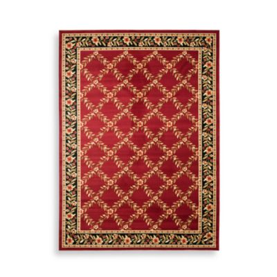 "Safavieh Lyndhurst Collection Red and Black Feodore 2' 3"" x 16' Runner"