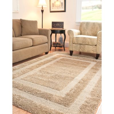 Beige Multi Rectangle Rug