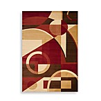 Safavieh Porcello Collection Red/Multi Gannon 5-Foot 3-Inch x 7-Foot 7-Inch Rectangle Rug