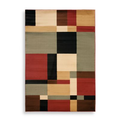 Safavieh Porcello Collection Black / Multi Griffith 8-Foot x 11-Foot 2-Inch Rug