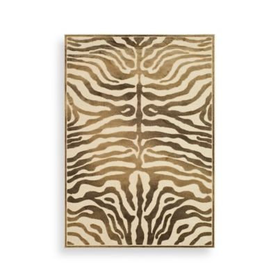 Safavieh Paradise Collection Harlequin 4-Foot x 5-Foot 7-Inch Rectangle Rug in Creme and Brown
