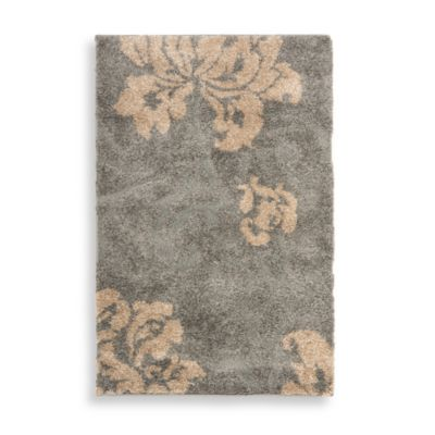 Safavieh Florida Shag Collection Beige and Creme Jasper 6-Foot 7-Inch Square Rug