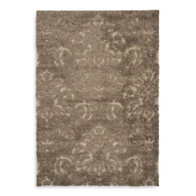 "Safavieh Florida Shag Collection Jasper Smoke and Beige 5' 3"" x 7' 6"" Rectangle Rug"