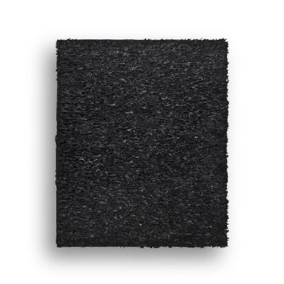 Safavieh Leather Shag 4-Foot x 6-Foot Rectangle Rug in Black
