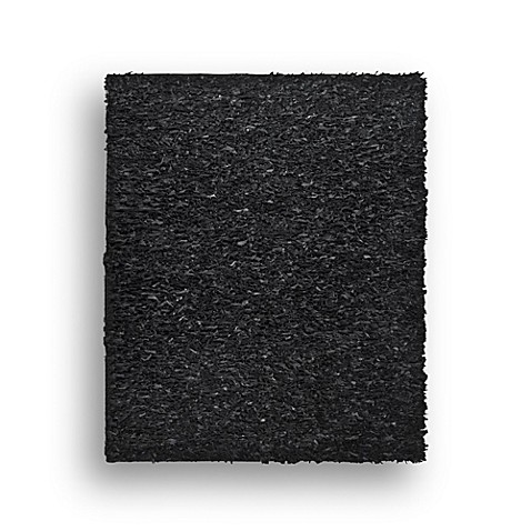 Safavieh Leather Shag Rug Collection in Black