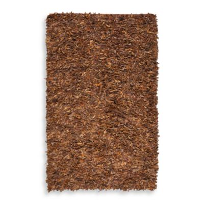 Safavieh Saddle Leather Shag 3-Foot x 5-Foot Rectangle Rug