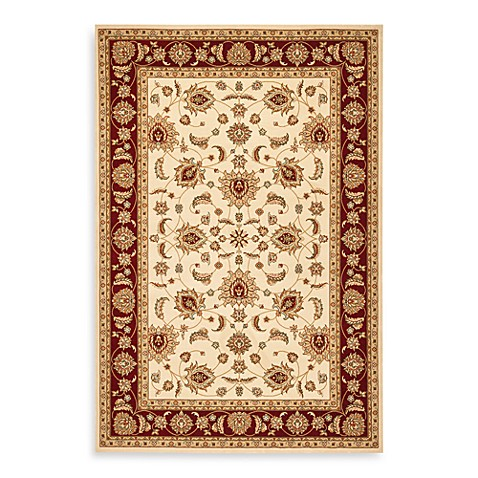 Safavieh Majesty Collection Creme and Red 9' x 12' Rectangle Rug