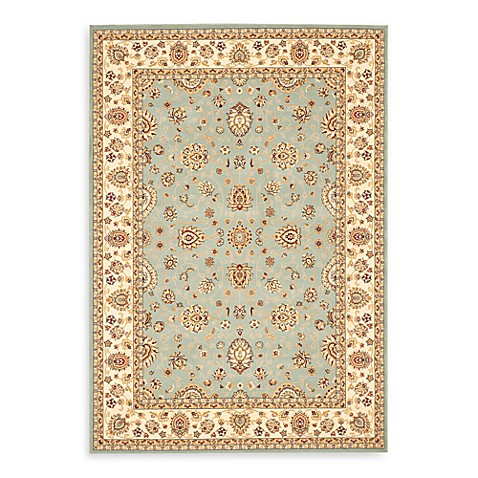 Safavieh Majesty Collection Light Blue and Creme 9' x 12' Rectangle Rug