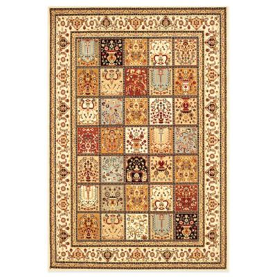 Safavieh Majesty Collection Block Pattern 7-Foot 9-Inch x 9-Foot 9-Inch Rug in Multi and Crème