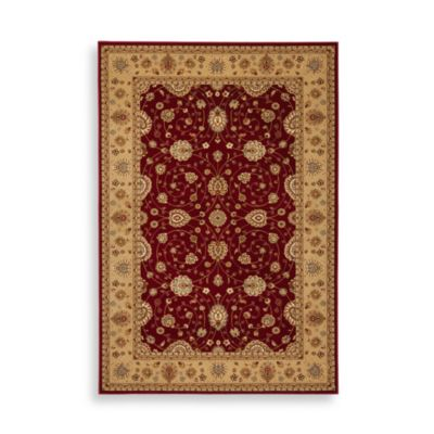 Safavieh Majesty 7-Foot 9-Inch x 9-Foot 9-Inch Rectangle Rug in Red and Camel