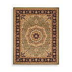 Safavieh Majesty Medallion 7-Foot 9-Inch x 9-Foot 9-Inch Rectangle Rug in Sage and Brown