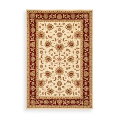 Safavieh Majesty 2-Foot 3-Inch x 8-Foot Runner in Cream and Red