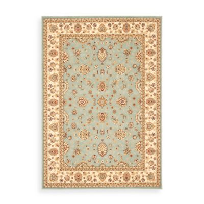 "Safavieh Majesty Light Blue and Cream 2' 3"" x 10' Runner"