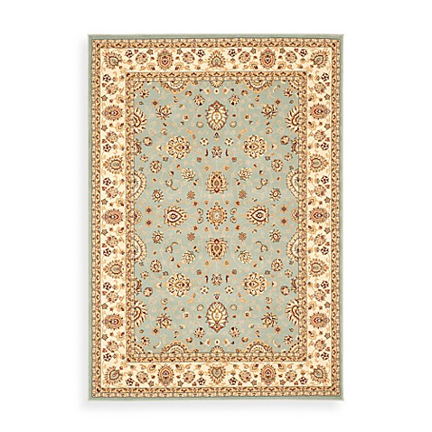 "Safavieh Majesty Light Blue and Cream 2' 3"" x 12' Runner"