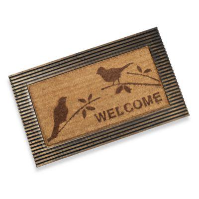 Koko Slat Frame 18-Inch x 30-Inch Songbird Door Mat