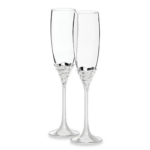 Vera Wang Wedgwood® Vera Lace Bouquet Toasting Flutes (Set of 2)