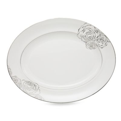 Monique Lhuillier Waterford® Sunday Rose 13 1/2-Inch Oval Platter