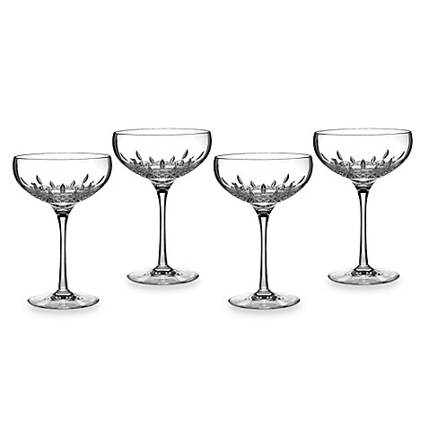 Waterford® Lismore Essence Saucer Champagne Glasses (Set of 4)