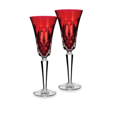 Waterford® I Love Lismore Red Flutes (Set of 2)