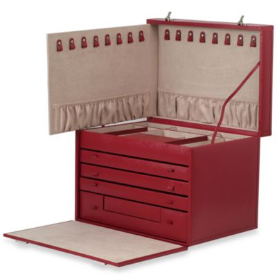 Wolf Designs Queen's Court Extra Large Jewelry Armoire in Crimson