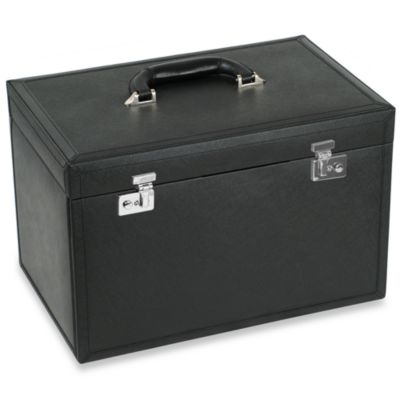 Wolf Designs Queens Court Extra Large Jewelry Case in Noir