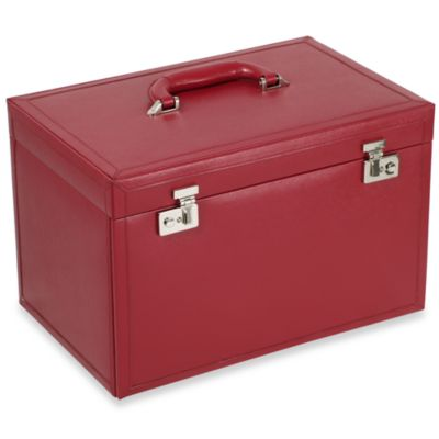 Wolf Designs Queen's Court Extra Large Jewelry Case in Crimson