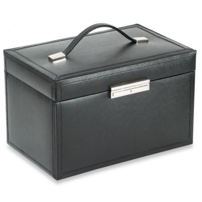 Wolf Designs Queens Court Extra Large Jewelry Case in Crimson
