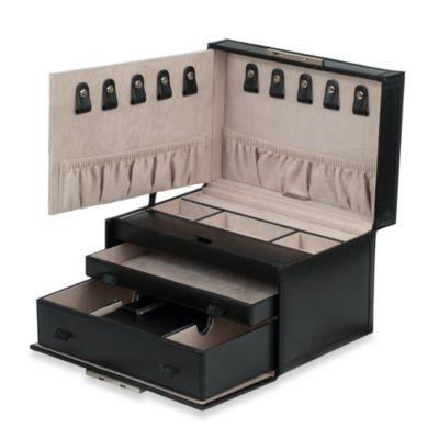 Wolf Designs Queen's Court Medium Jewelry Case in Noir