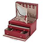 Wolf Designs Queen's Court Medium Jewelry Case in Crimson
