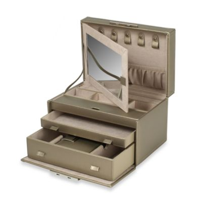 Wolf Designs Queen's Court Medium Jewelry Case in Bronze
