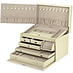 Wolf Designs London Collection Large Jewelry Case in Cream