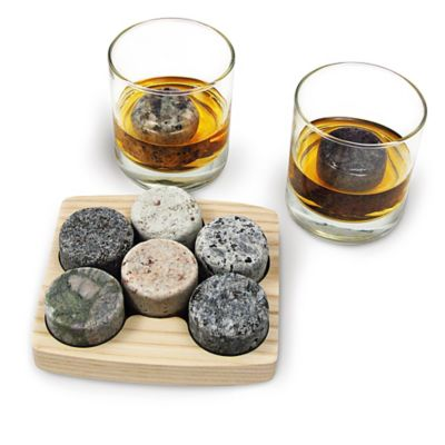 Sea Stones™ On The Rocks Granite Drink Chillers (Set of 6)